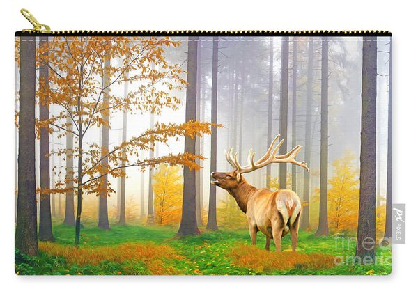 Male Elk Bugling Carry-all Pouch