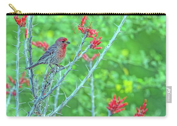 Male House Finch 8347 Carry-all Pouch