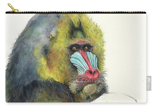 Male Mandrill Carry-all Pouch