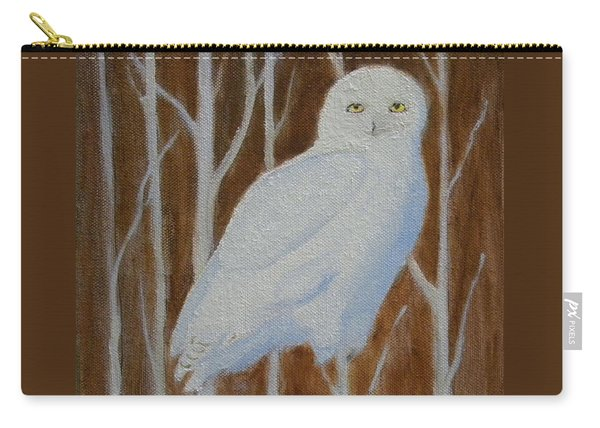 Male Snowy Owl Portrait Carry-all Pouch