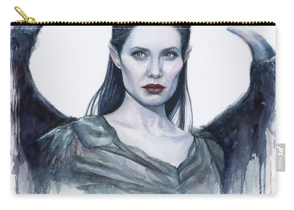 Maleficent Watercolor Portrait Carry-all Pouch