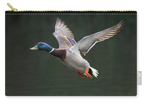 Mallard Drake In Flight Carry-all Pouch