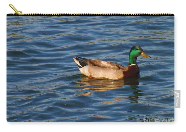 Mallard Drake Duck Swimming Carry-all Pouch