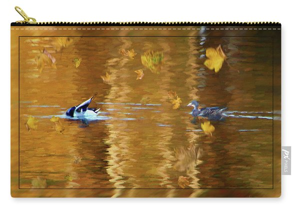 Mallard Ducks On Magnolia Pond - Painted Carry-all Pouch