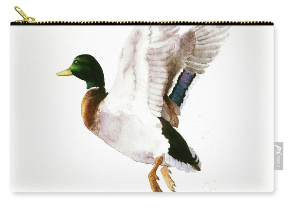 Mallard Flying Away Watercolor Carry-all Pouch