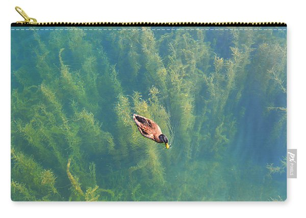 Mallard Over Seaweed Carry-all Pouch