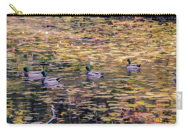Mallards On Autumn Pond Carry-all Pouch