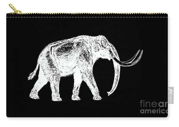 Mammoth White Ink Tee Carry-all Pouch