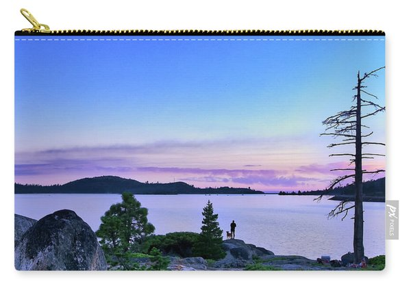 Carry-all Pouch featuring the photograph Man And Dog by Jim Thompson