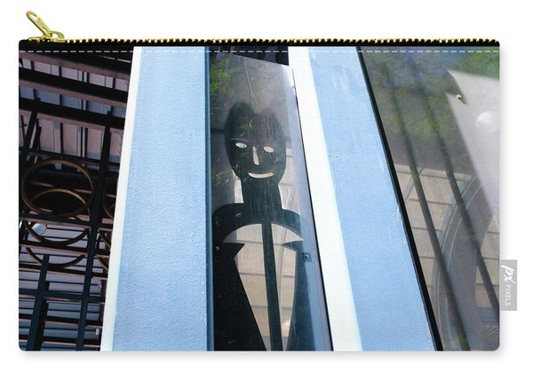 Man Looking At You Through A Window In Seattle Washington Carry-all Pouch