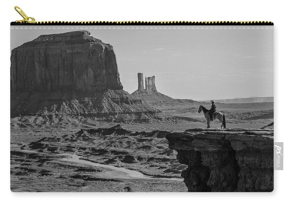 Man On Horse Monument Valley Carry-all Pouch