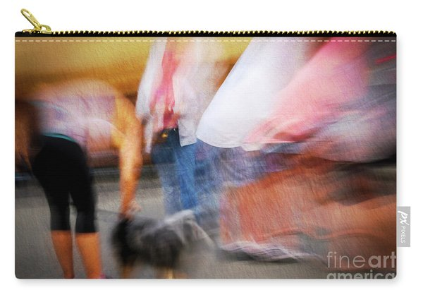 Woman Playing With Dog Carry-all Pouch