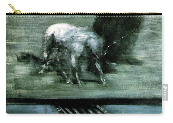 Man With Dog  Carry-all Pouch