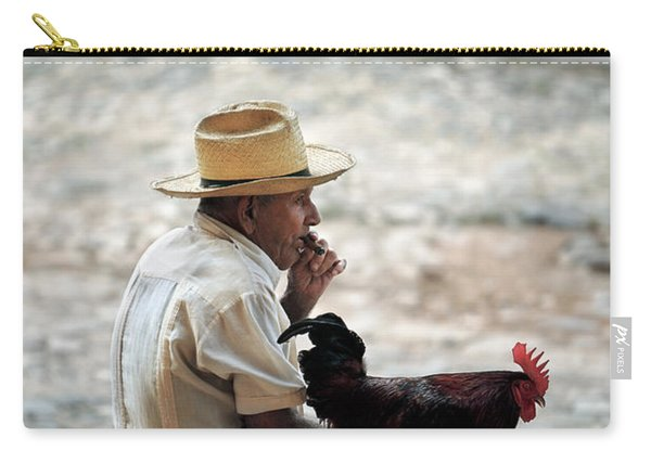 Man With Rooster - Trinidad - Cuba  Carry-all Pouch