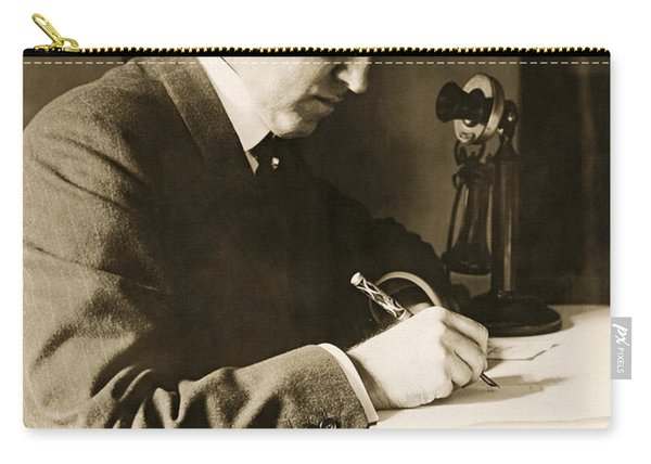 Man Writing At His Desk Carry-all Pouch