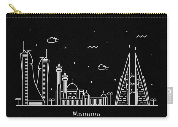 Manama Skyline Travel Poster Carry-all Pouch