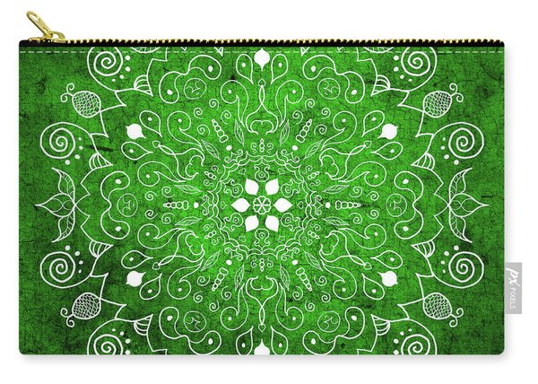 Mandala 1 Green Carry-all Pouch