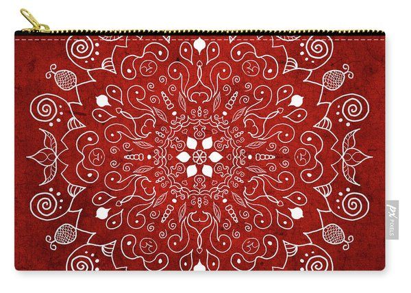 Mandala 1 Red Carry-all Pouch