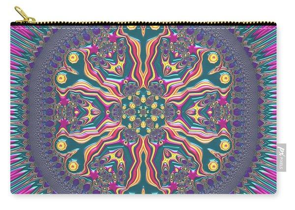Carry-all Pouch featuring the digital art Mandala 467567678 by Robert Thalmeier