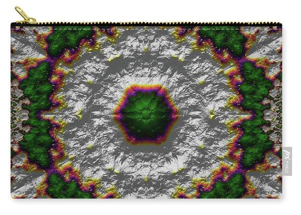 Carry-all Pouch featuring the digital art Mandala 467567678975 by Robert Thalmeier