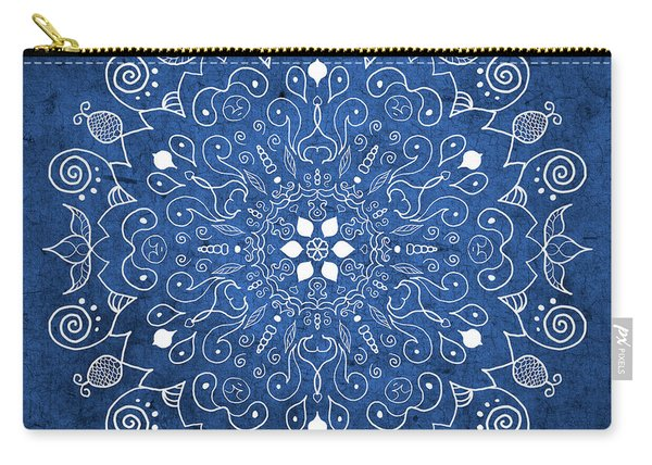 Denim Mandala  Carry-all Pouch