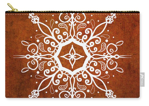 Mandala Art Earth Tone Carry-all Pouch