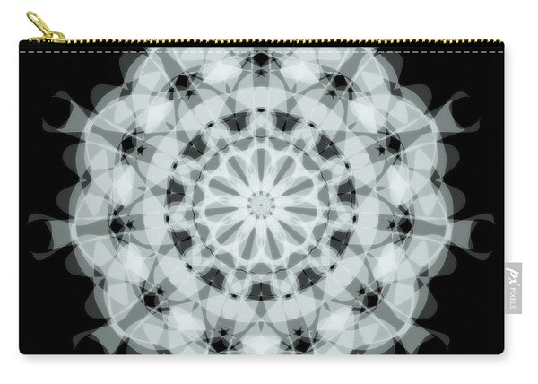 Mandala Black And White Abstract Circle Carry-all Pouch