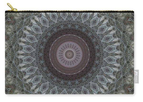 Mandala In Grey And Brown Colors Carry-all Pouch