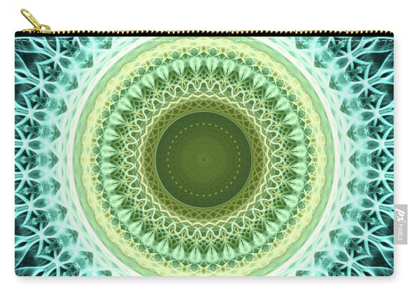 Mandala In Light Blue And Yellow Colors Carry-all Pouch