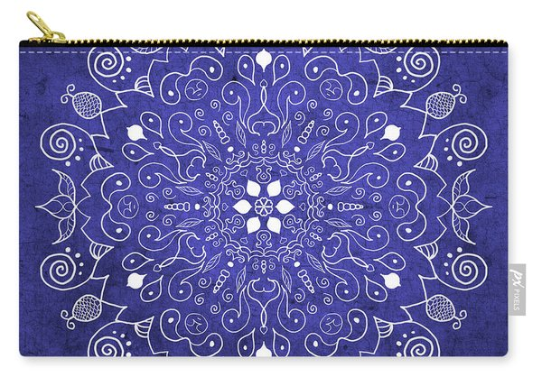 Mandala Midnight Blue Carry-all Pouch