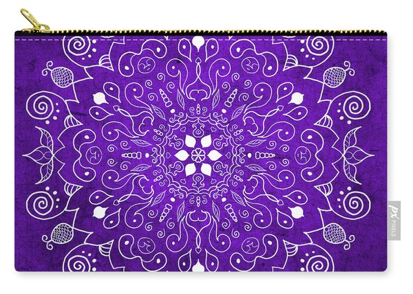 Mandala Purple Carry-all Pouch