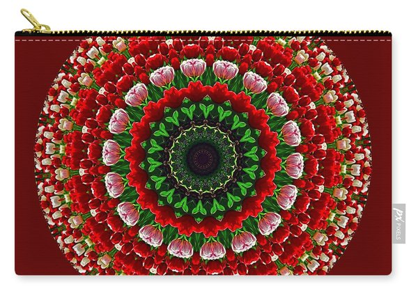 Mandala Tulipa By Kaye Menner Carry-all Pouch