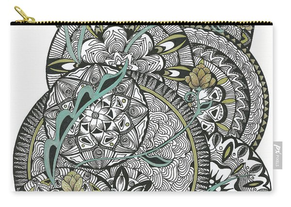 Mandalas With Gold Flowers Carry-all Pouch