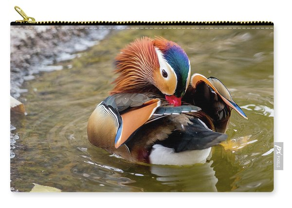 Mandarin Duck Preening Feathers Carry-all Pouch