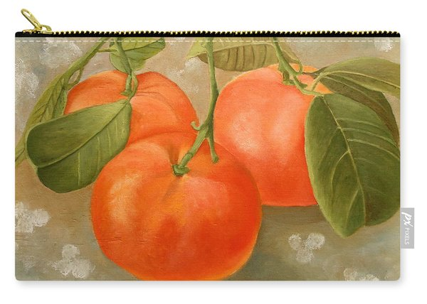 Carry-all Pouch featuring the painting Mandarins by Angeles M Pomata