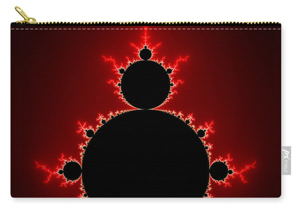 Mandelbrot Set Black And Red Square Format Carry-all Pouch