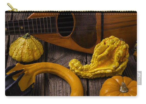 Mandolin And Gourds Carry-all Pouch