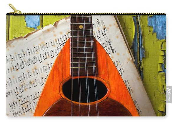 Mandolin And Old Sheet Music Carry-all Pouch