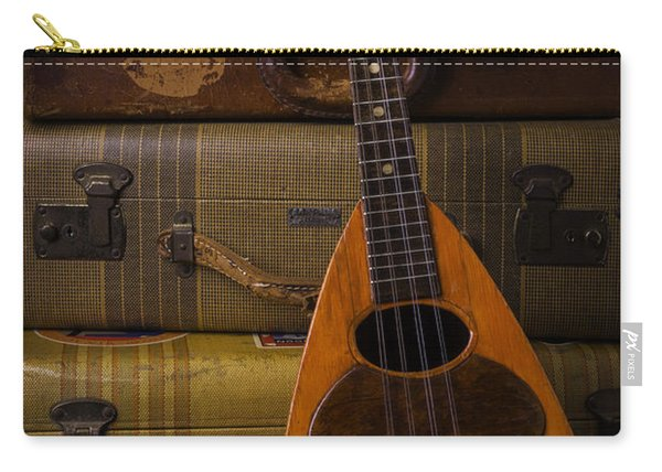Mandolin And Suitcases Carry-all Pouch