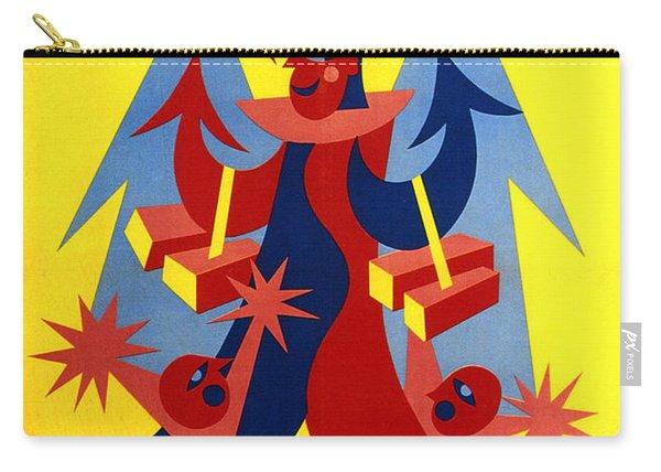 Mandorlato Vido - Lendinara, Rovigo - Italian Futurism - Vintage Travel Poster - Fortunato Depero Carry-all Pouch