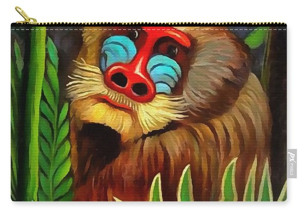 Mandrill In The Jungle Carry-all Pouch