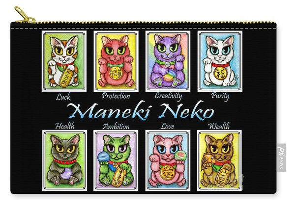 Maneki Neko Luck Cats Carry-all Pouch