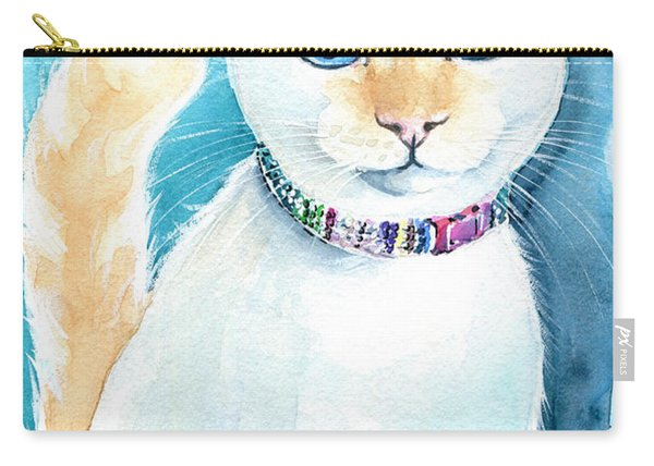 Mango - Flame Point Siamese Cat Painting Carry-all Pouch