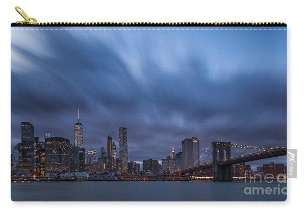 Manhattan And Brooklyn Bridge Carry-all Pouch