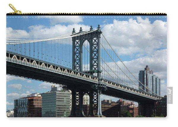 Manhattan Bridge In Blue Carry-all Pouch