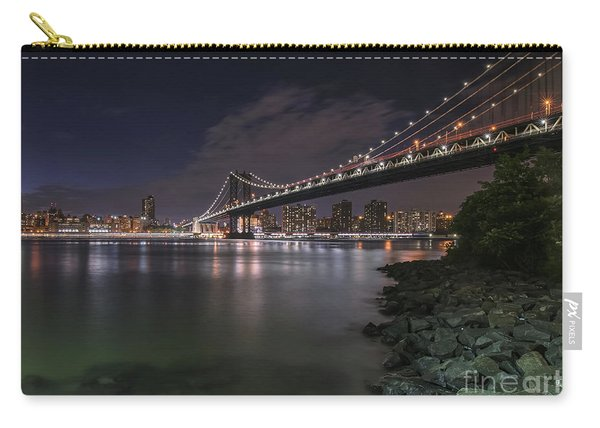 Manhattan Bridge Twinkles At Dusk Carry-all Pouch