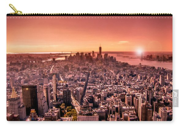 Manhattan In Red Carry-all Pouch