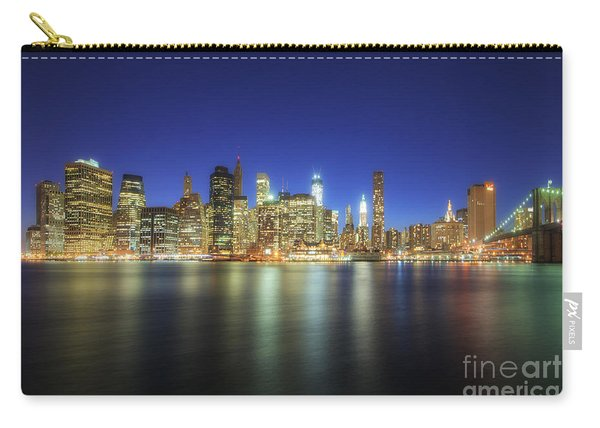 Manhattan Nite Lites Nyc Carry-all Pouch