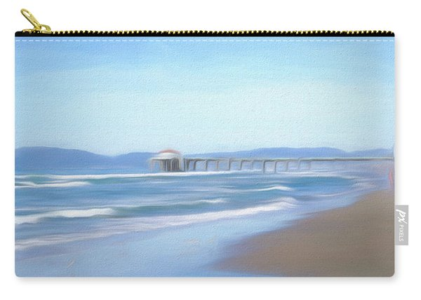 Carry-all Pouch featuring the photograph Manhattan Pier Art by Michael Hope