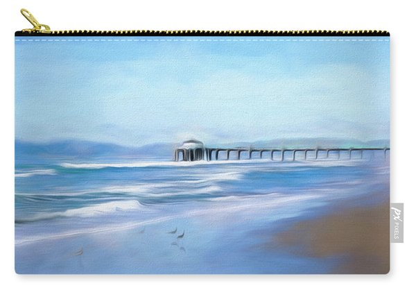 Carry-all Pouch featuring the photograph Manhattan Pier Blue Art by Michael Hope